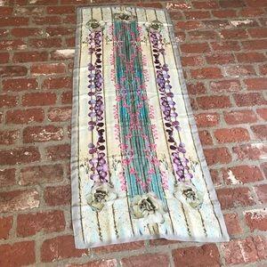 Emma burton cream shutter silk flowered scarf